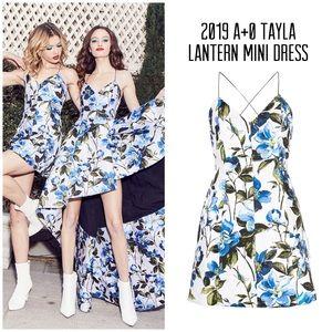 Alice + Olivia Tayla Floral Lantern Mini Dress